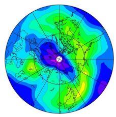 北極上空でオゾン層破壊進む