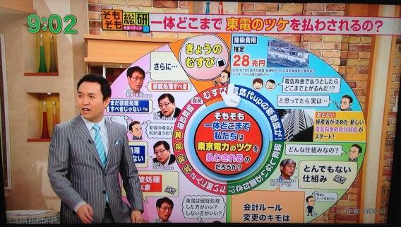モーニングバード!そもそも総研たまぺディア「一体私たちはどこまで東京電力のつけを払わされるのか?」 - Togetter
